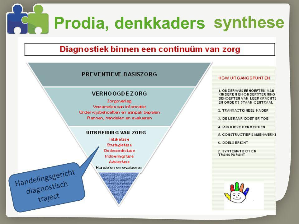synthese Handelingsgericht diagnostisch traject Prodia, denkkaders