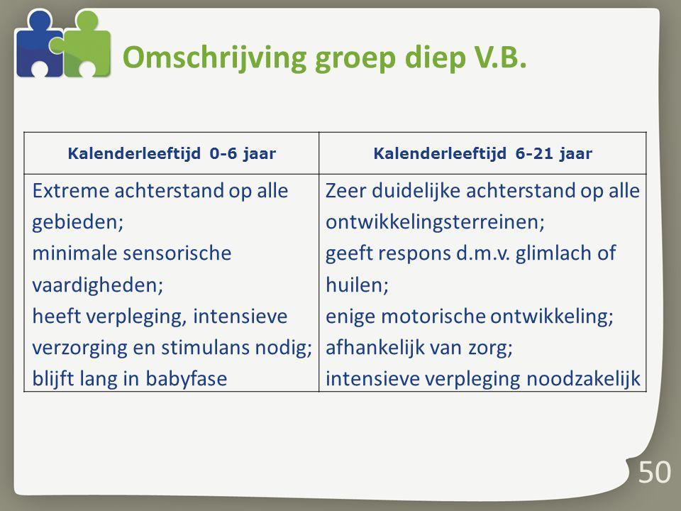 Omschrijving groep diep V.B.