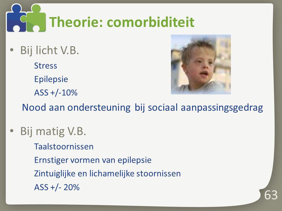 Theorie: comorbiditeit Bij licht V.B.