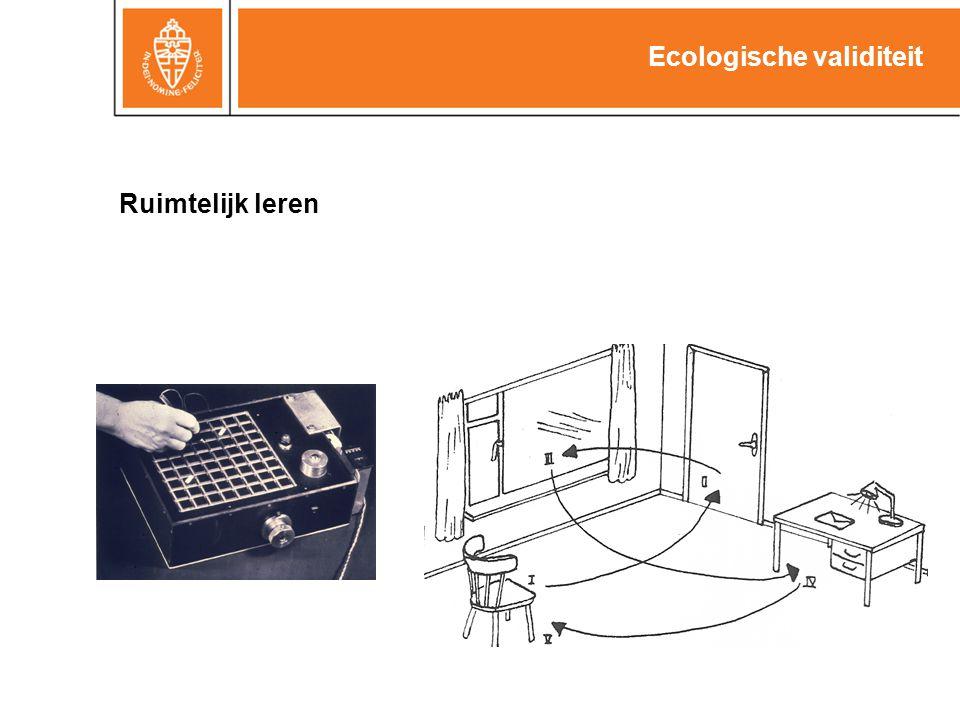 27 Ecologische validiteit Ruimtelijk leren Routeleren (RBMT): Onmiddellijk+uitgesteld Plafondeffect Standaardisatie beperkt