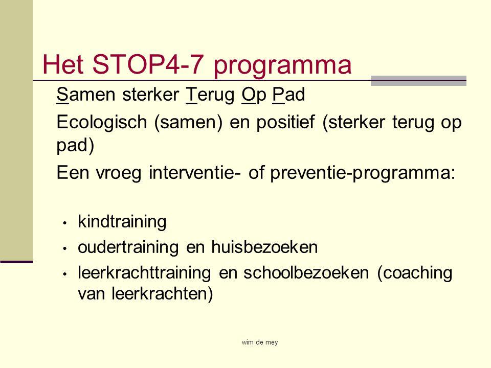Het STOP4-7 programma Samen sterker Terug Op Pad Ecologisch (samen) en positief (sterker terug op pad) Een vroeg interventie- of preventie-programma: