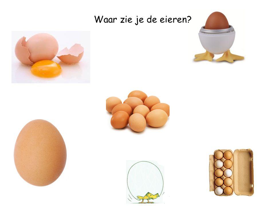 Waar zie je de eierdoos?