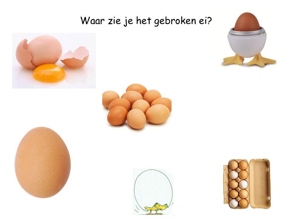Waar zie je het ei in de eierdop?