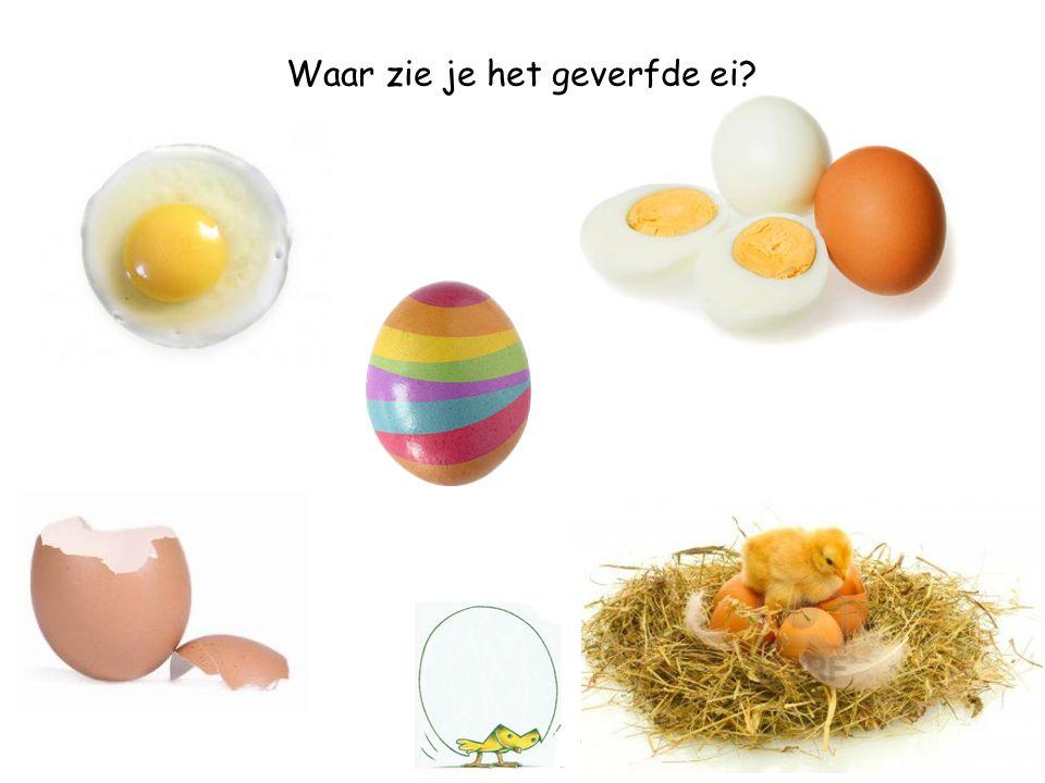 Waar zie je het gekookte ei?