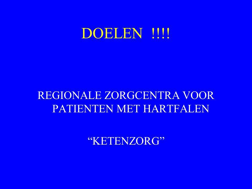 DOELEN !!!! REGIONALE ZORGCENTRA VOOR PATIENTEN MET HARTFALEN KETENZORG
