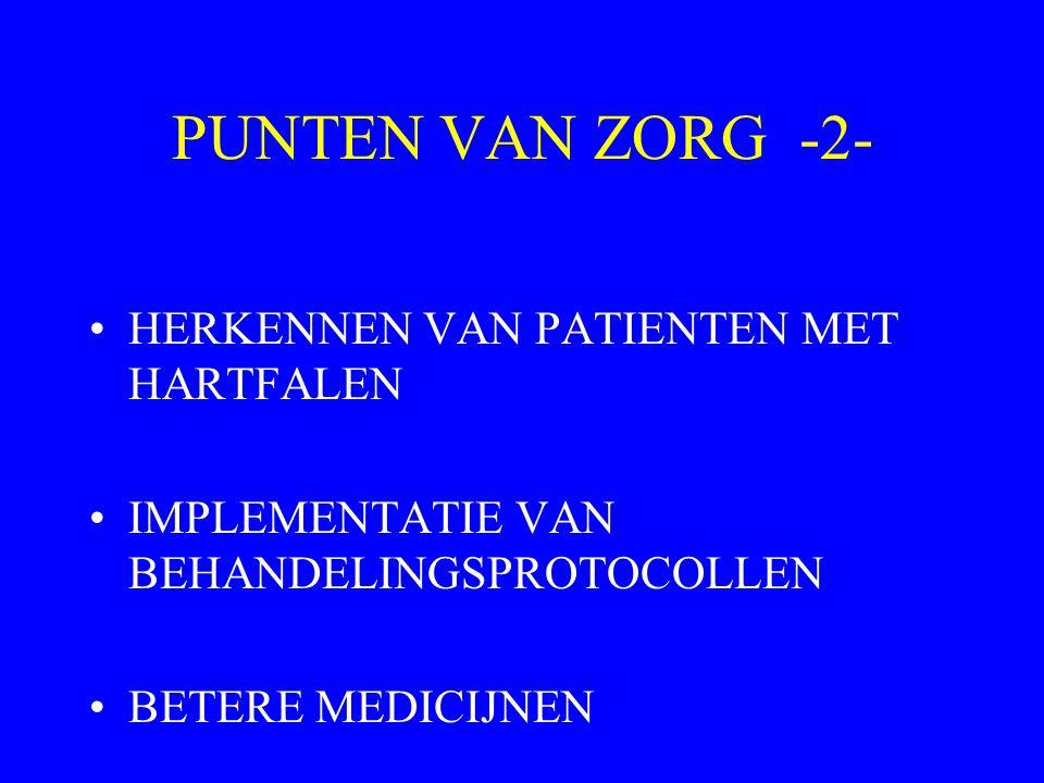 PUNTEN VAN ZORG -2- HERKENNEN VAN PATIENTEN MET HARTFALEN IMPLEMENTATIE VAN BEHANDELINGSPROTOCOLLEN BETERE MEDICIJNEN
