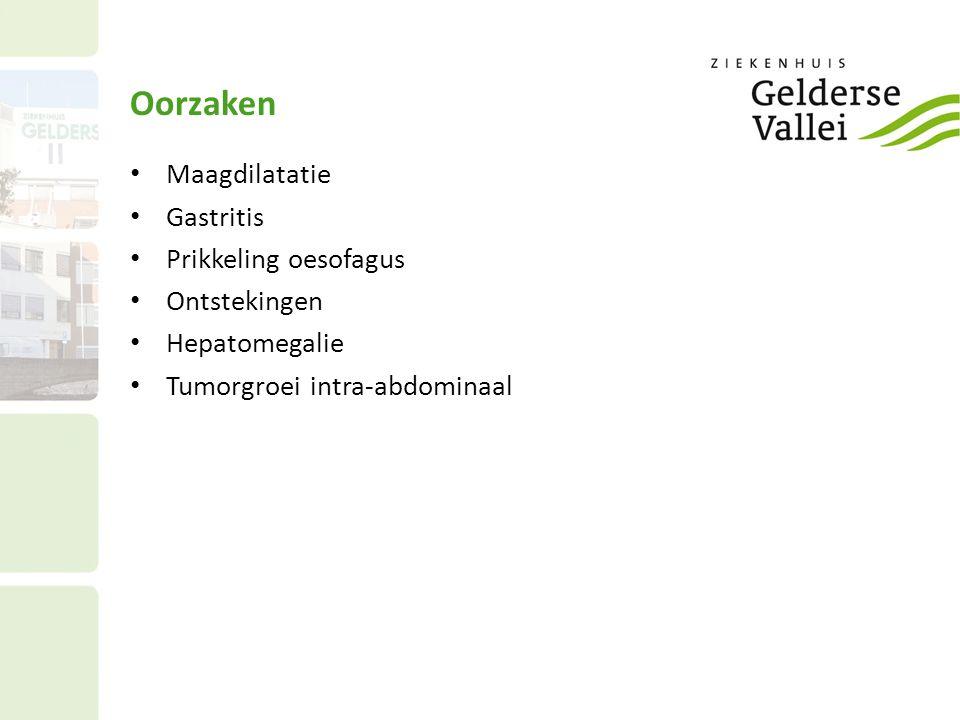 Oorzaken Tumorgroei mediastinum Basale pneumonie Aandoeningen CZS – metastasen Toxisch /metabool