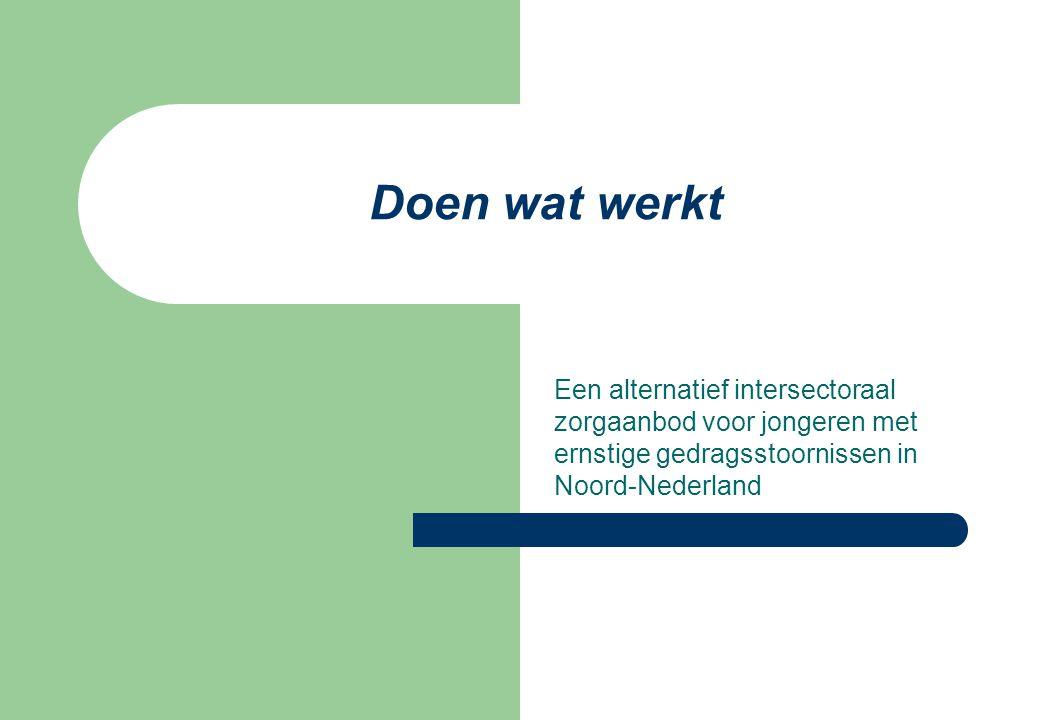Doen wat werkt Een alternatief intersectoraal zorgaanbod voor jongeren met ernstige gedragsstoornissen in Noord-Nederland