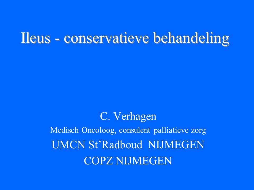 Ileus - conservatieve behandeling C.