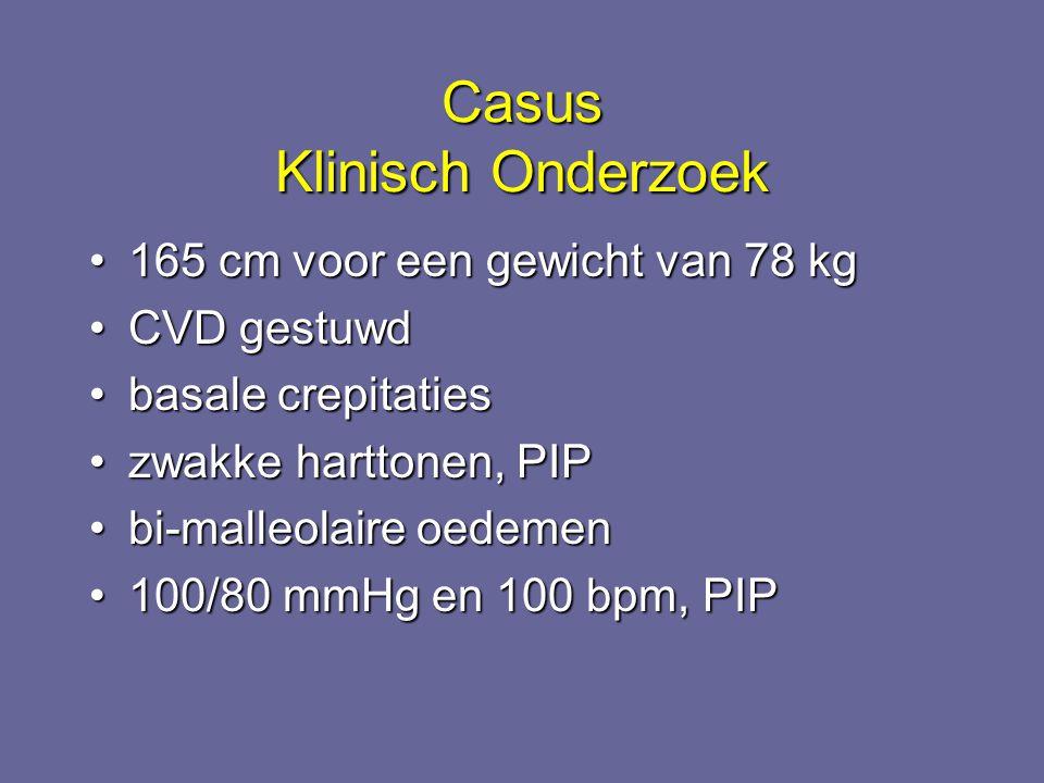 Casus Klinisch Onderzoek 165 cm voor een gewicht van 78 kg165 cm voor een gewicht van 78 kg CVD gestuwdCVD gestuwd basale crepitatiesbasale crepitatie