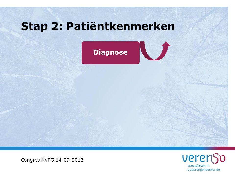 Stap 2: Patiëntkenmerken Diagnose Congres NVFG 14-09-2012