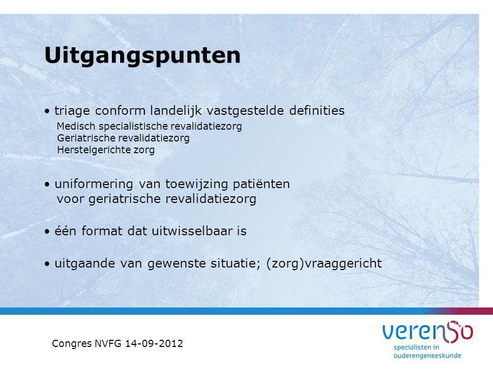 Stap 2: Patiëntkenmerken Diagnose Premorbide Functioneren Congres NVFG 14-09-2012