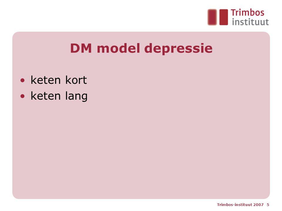Trimbos-instituut 2007 5 DM model depressie keten kort keten lang