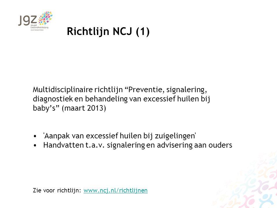 """Multidisciplinaire richtlijn """"Preventie, signalering, diagnostiek en behandeling van excessief huilen bij baby's"""" (maart 2013) 'Aanpak van excessief h"""