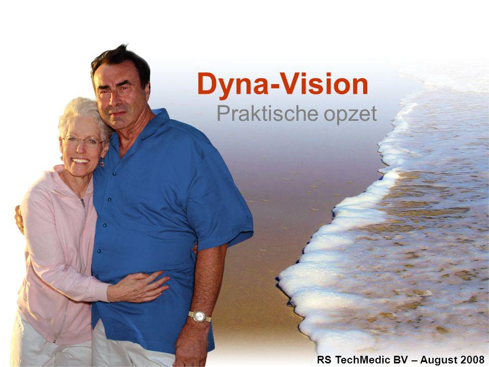 RS TechMedic BV | the Netherlands | www.rstechmedic.com | info@rstechmedic.com Dyna-Vision voor Huisartsen Toepassingen: –Next generation ECG en SpO2 holter voor ritmediagnostiek –Maken van een ECG bij de patient thuis –Meten van zuurstofsaturatie –Diagnostiek bij verdenking apnoe, astma, COPD Werking: –Aansluiten van Dyna-Vision unit aan de patient –Invoeren van basis gegevens van de patient in de PC –Patient gaat naar huis –Dyna-Vision stuurt zélf de metingen naar een server op afstand –Cardioloog bekijkt het ECG, maakt rapportage en stuurt die naar de huisarts –Patient krijgt op spreekuur de uitslag ** optie: huisarts analyseert het ECG zelf met de interpretatie software