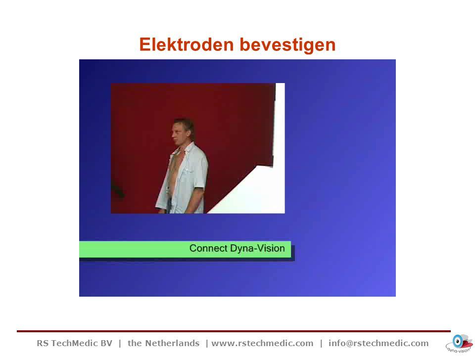 RS TechMedic BV   the Netherlands   www.rstechmedic.com   info@rstechmedic.com Elektroden bevestigen
