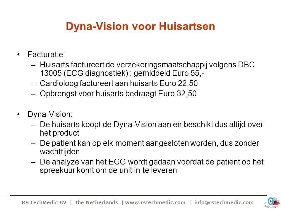 RS TechMedic BV   the Netherlands   www.rstechmedic.com   info@rstechmedic.com Dyna-Vision voor Huisartsen Facturatie: –Huisarts factureert de verzeke