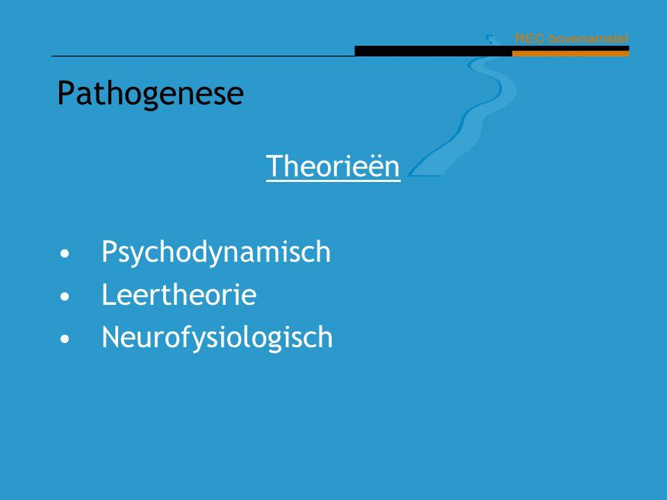 Pathogenese Theorieën Psychodynamisch Leertheorie Neurofysiologisch