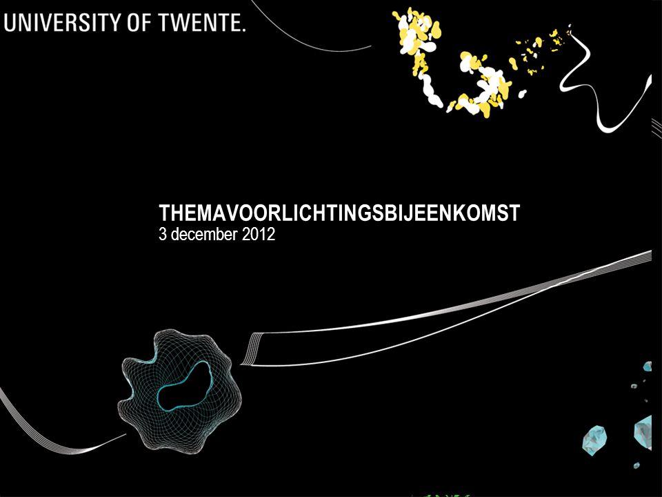 THEMAVOORLICHTINGSBIJEENKOMST 3 december 2012