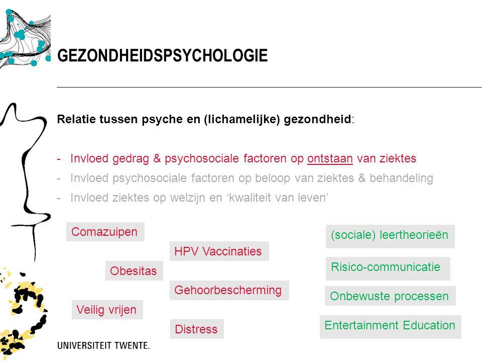 Relatie tussen psyche en (lichamelijke) gezondheid: -Invloed gedrag & psychosociale factoren op ontstaan van ziektes -Invloed psychosociale factoren o
