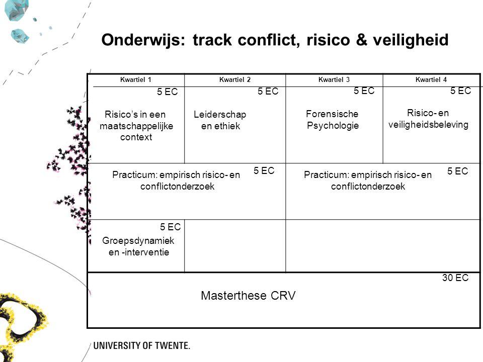 Kwartiel 1Kwartiel 2Kwartiel 3Kwartiel 4 5 EC Risico's in een maatschappelijke context Forensische Psychologie Risico- en veiligheidsbeleving 5 EC Pra