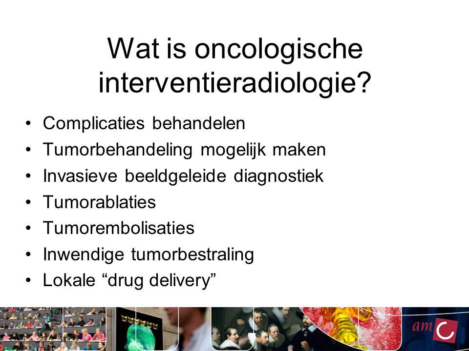 Wat is oncologische interventieradiologie.