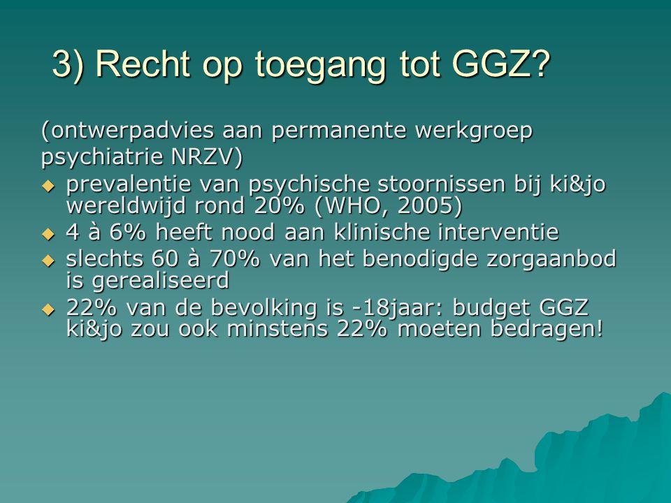 3) Recht op toegang tot GGZ? (ontwerpadvies aan permanente werkgroep psychiatrie NRZV)  prevalentie van psychische stoornissen bij ki&jo wereldwijd r