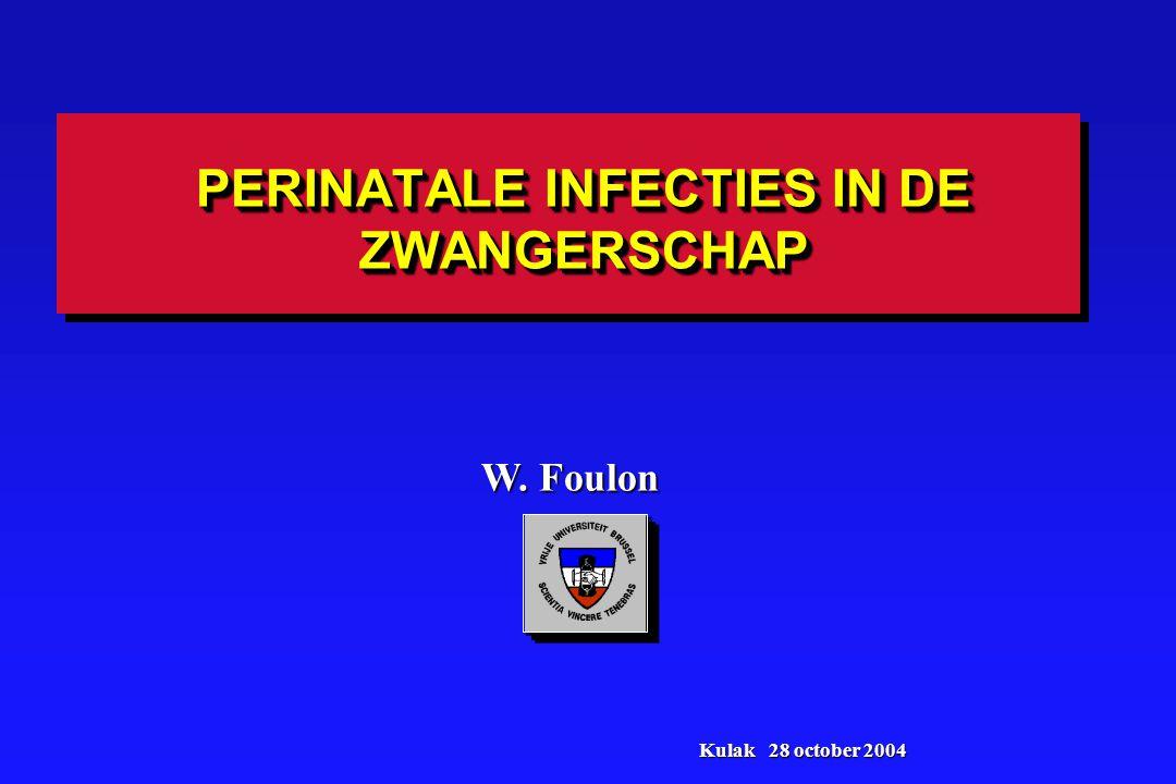 BESLUIT: EPIDEMIOLOGIE 1.Congenitale cmv infectie komt voor in 0,64% van onze populatie 2.Van de 46 congenitale infecties zijn er 27 die hun oorsprong vinden in een primaire maternale CMV infectie (59%); 12 (26%) na recurrente infectie; en 7 (15%) na een niet geklasseerde maternale infectie 3.Zware infecties komen voor zowel bij primaire als bij recurrente infecties