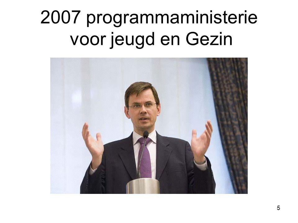 5 2007 programmaministerie voor jeugd en Gezin
