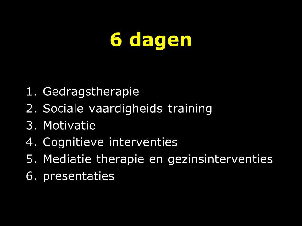 Dag 2 operante technieken: inleiding en oefening literatuur en huiswerk sociale vaardigheidstraining