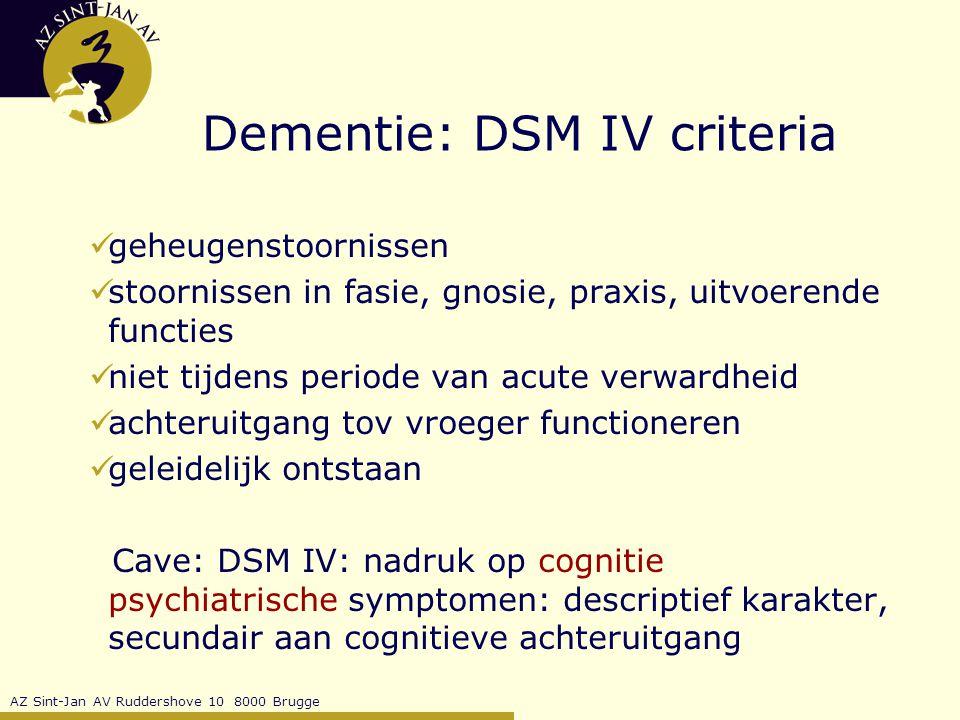 AZ Sint-Jan AV Ruddershove 10 8000 Brugge Dementie: psychosociale interventies doel: kwaliteitsverbetering van leven van dementerende en zijn omgeving ROT reminiscentie validatie snoezelen ontspanning …