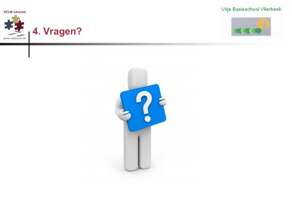 4. Vragen?