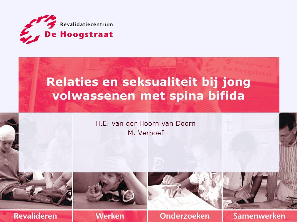 Relaties en seksualiteit bij jong volwassenen met spina bifida H.E.