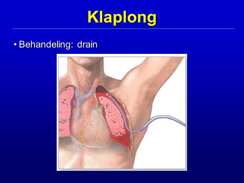 Klaplong Behandeling: drainBehandeling: drain