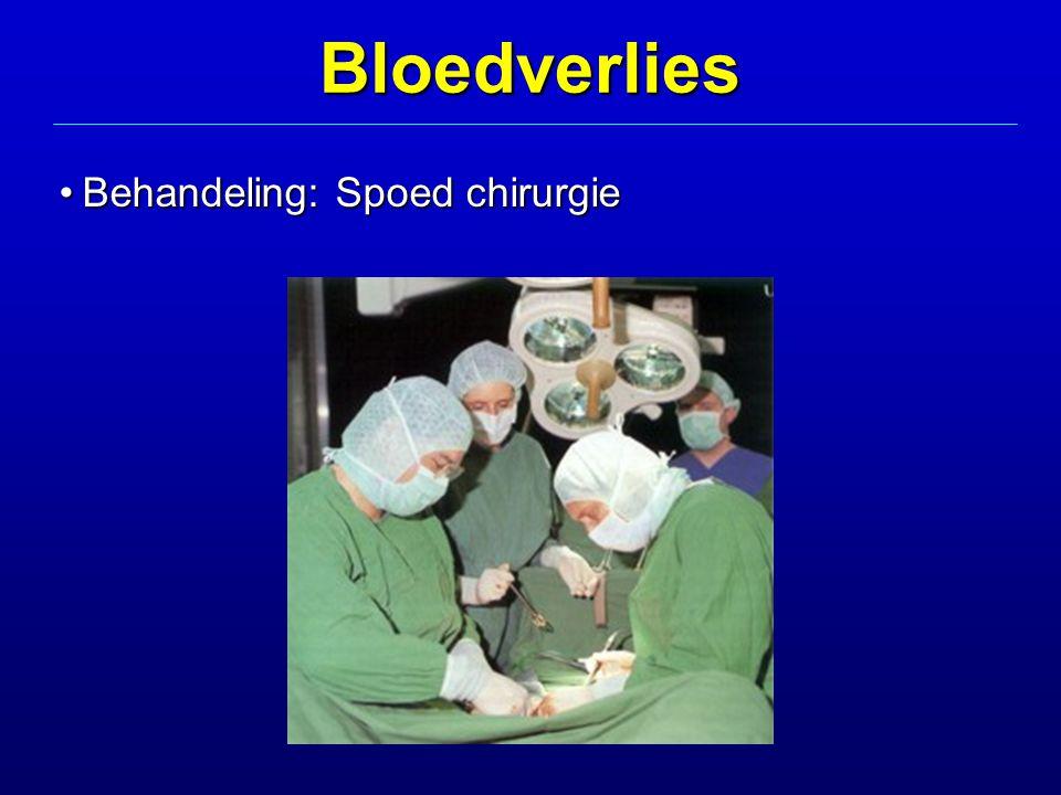 Behandeling: Spoed chirurgieBehandeling: Spoed chirurgieBloedverlies