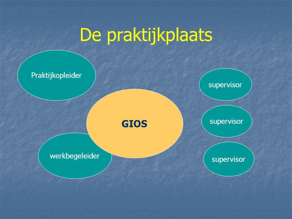 De praktijkplaats werkbegeleider supervisor Praktijkopleider GIOS