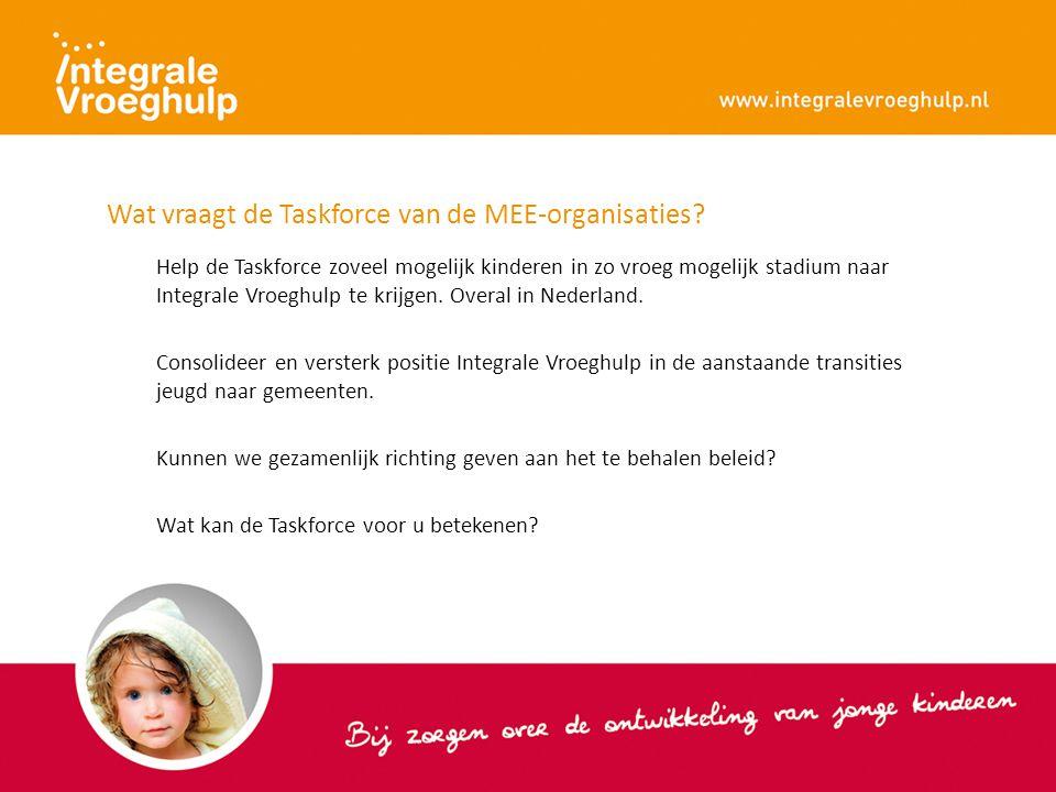 Wat vraagt de Taskforce van de MEE-organisaties.
