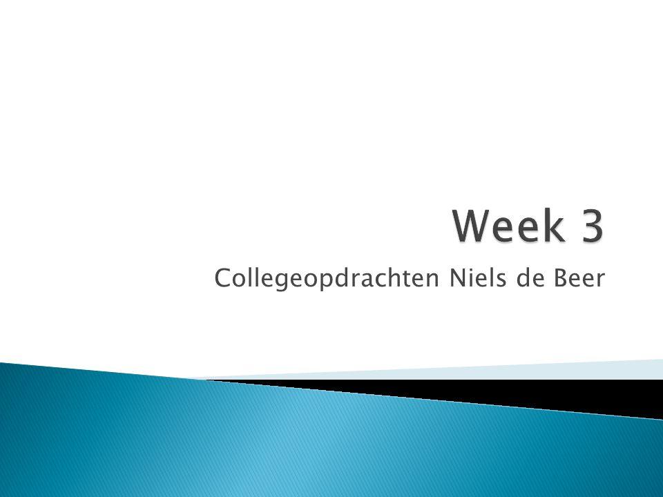 Collegeopdrachten Niels de Beer
