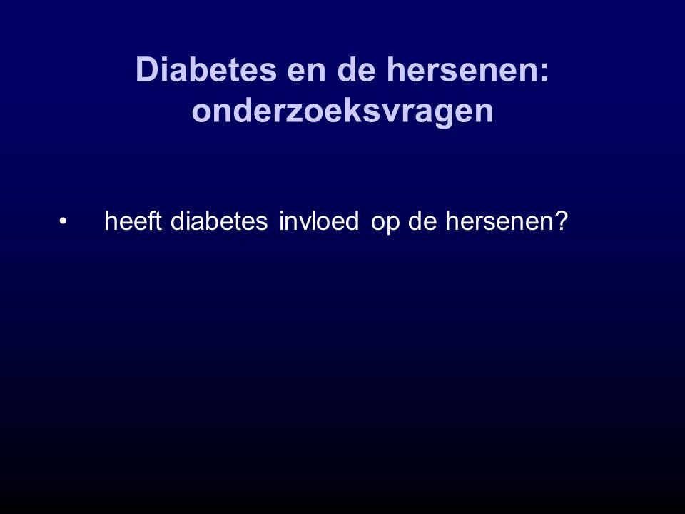 heeft diabetes invloed op de hersenen?