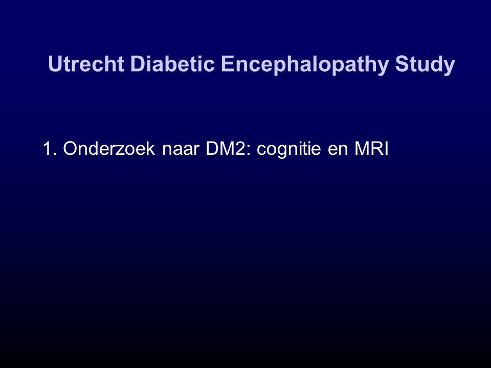 Utrecht Diabetic Encephalopathy Study 1. Onderzoek naar DM2: cognitie en MRI