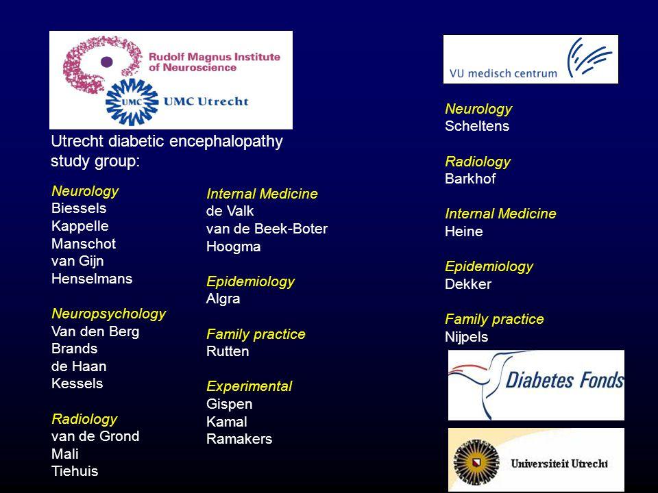 Internal Medicine de Valk van de Beek-Boter Hoogma Epidemiology Algra Family practice Rutten Experimental Gispen Kamal Ramakers Neurology Scheltens Ra