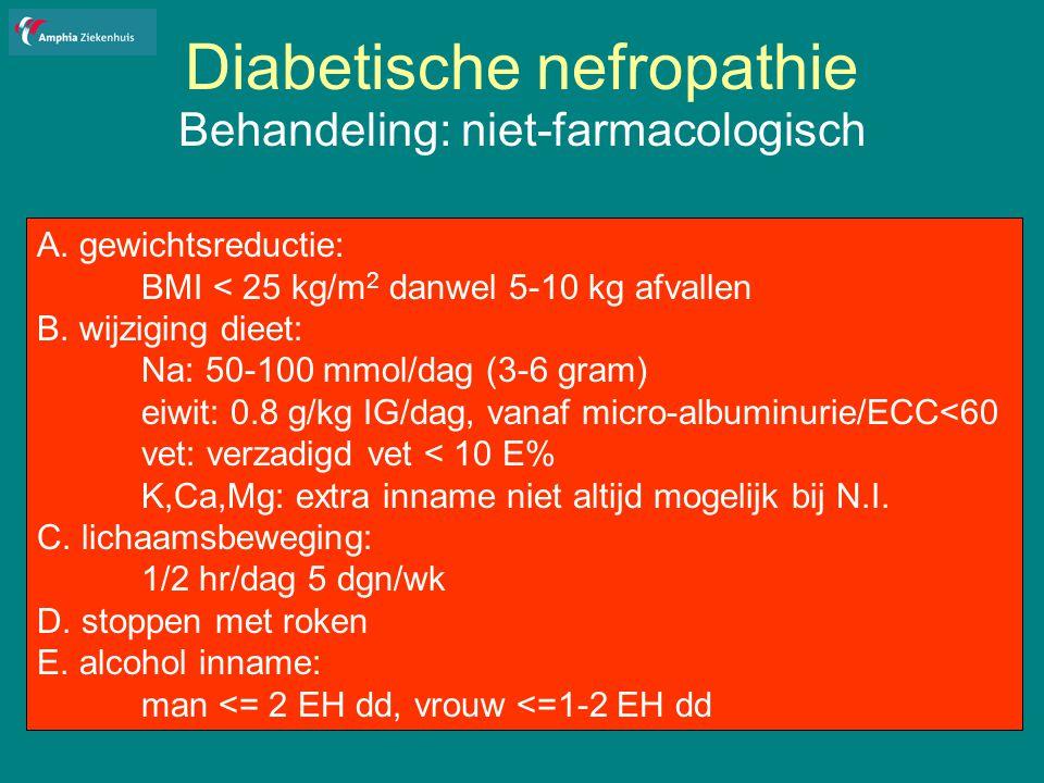 Diabetische nefropathie Behandeling: niet-farmacologisch A.