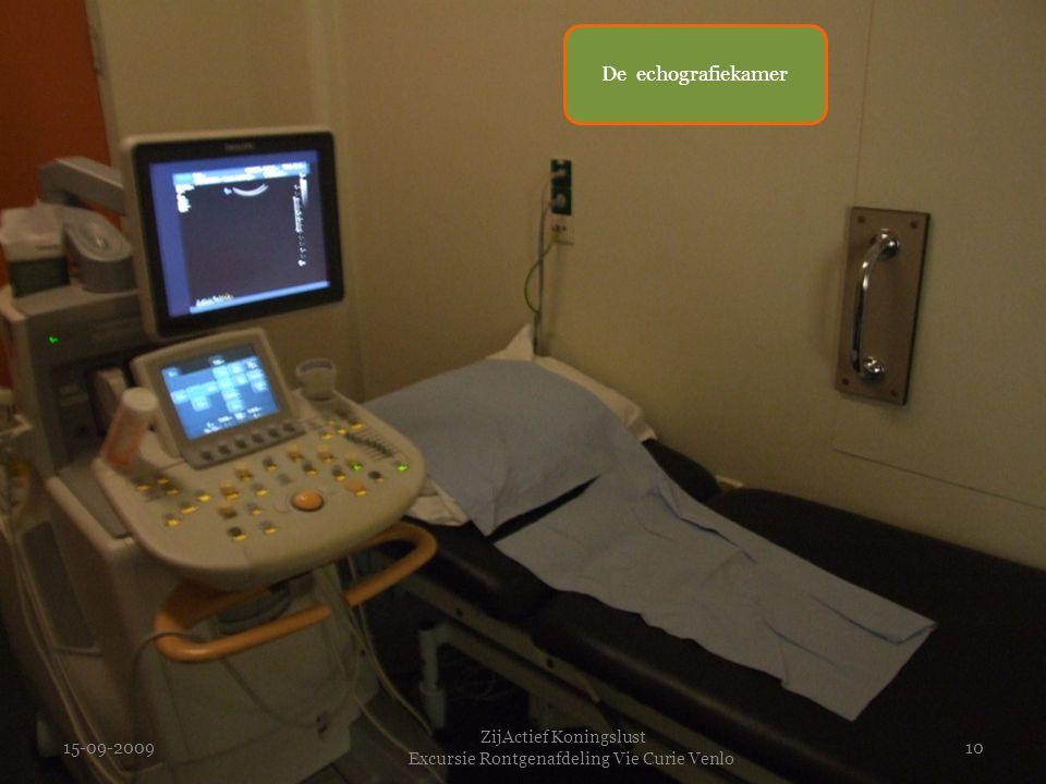 15-09-2009 ZijActief Koningslust Excursie Rontgenafdeling Vie Curie Venlo 10 De echografiekamer