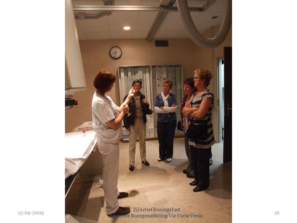 15-09-2009 ZijActief Koningslust Excursie Rontgenafdeling Vie Curie Venlo 16