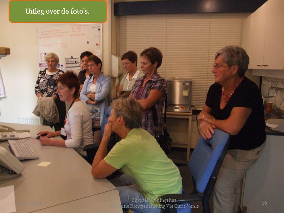 15-09-2009 ZijActief Koningslust Excursie Rontgenafdeling Vie Curie Venlo 18 Uitleg over de foto's.