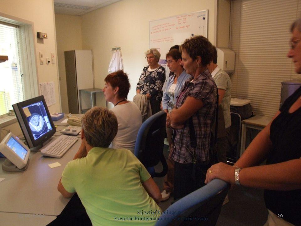 15-09-2009 ZijActief Koningslust Excursie Rontgenafdeling Vie Curie Venlo 20