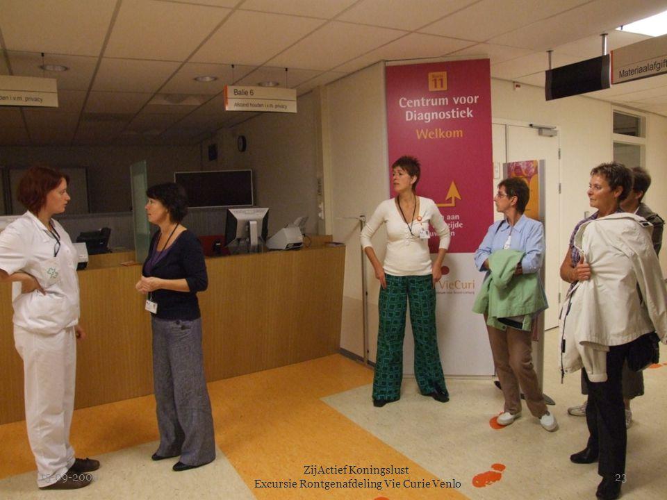 15-09-2009 ZijActief Koningslust Excursie Rontgenafdeling Vie Curie Venlo 23
