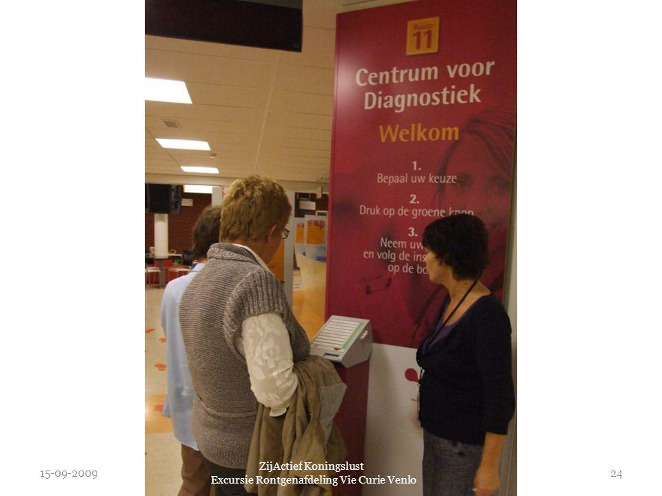 15-09-2009 ZijActief Koningslust Excursie Rontgenafdeling Vie Curie Venlo 24