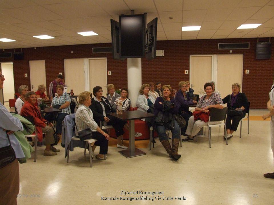 15-09-2009 ZijActief Koningslust Excursie Rontgenafdeling Vie Curie Venlo 25