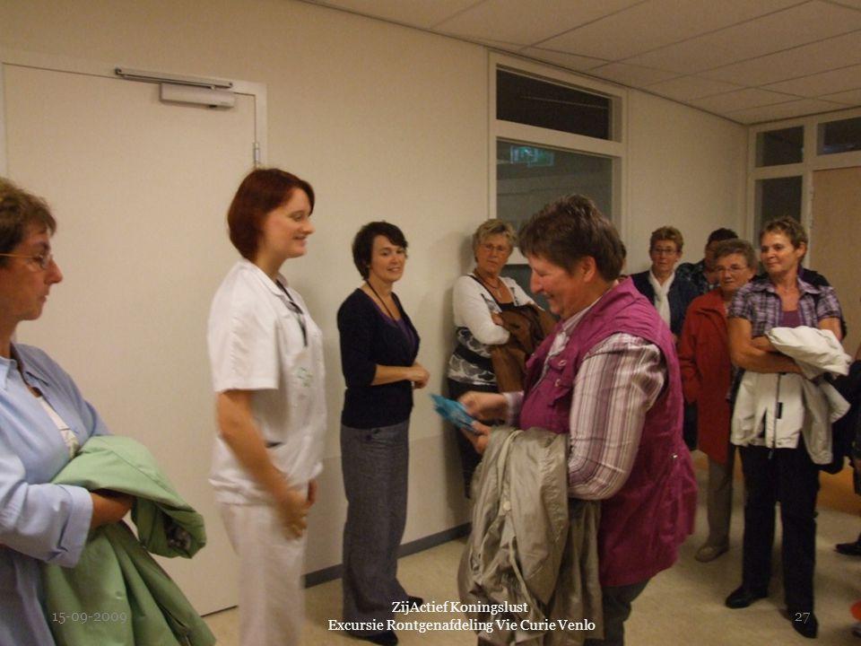 15-09-2009 ZijActief Koningslust Excursie Rontgenafdeling Vie Curie Venlo 27